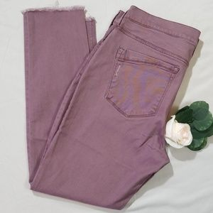 Express Mid Rise Mauve Ankle Leggings Size 14R NWT